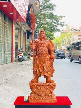 Tượng Quan Công Chống Đao Cao 1m2 gỗ hương đá - 1