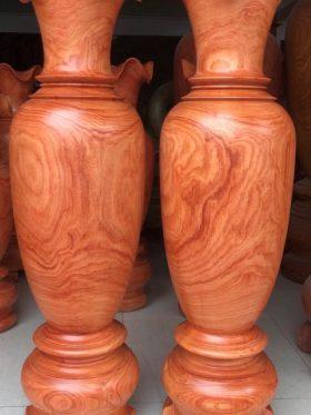 cặp lộc bình bằng gỗ hương đỏ nam phi cao 160 cm siêu đẹp