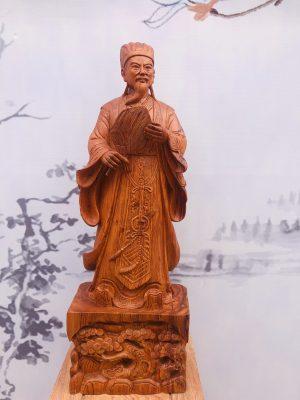 tượng gỗ không minh chạm đế tùng 1