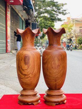 Lục bình gỗ hương đá cao 70cm - 1