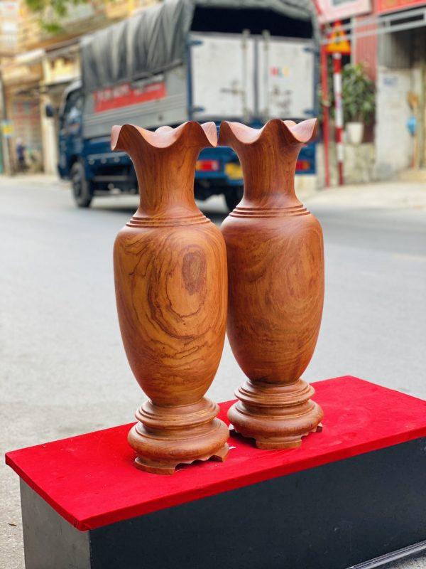 Lục bình gỗ hương đá cao 70cm - 2