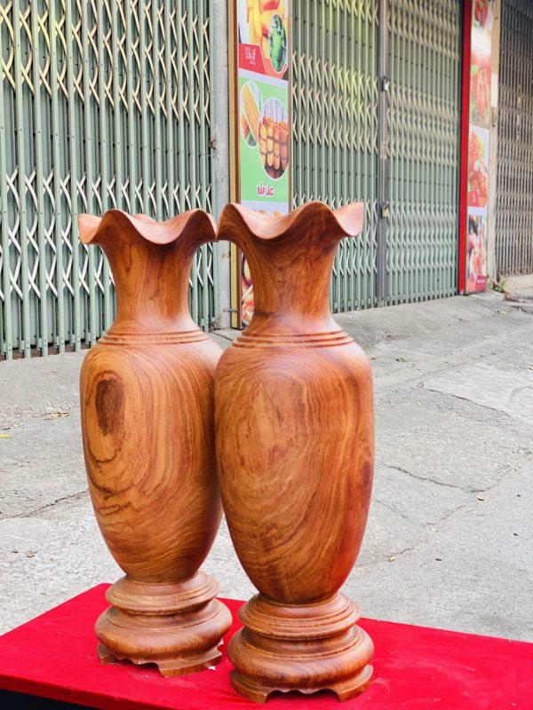 Lục bình gỗ hương đá cao 70cm - 3
