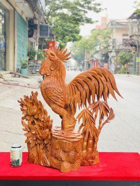Nhất Kê Hoa Phù Dung Gỗ Hương Ta Cao 70cm - 1