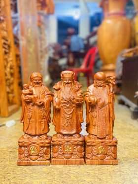 Tượng tam đa gỗ hương đá cao 30cm - 1