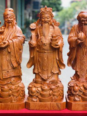 Tượng tam đa gỗ hương đá cao 80cm - 2