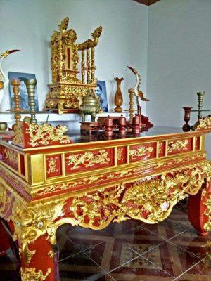 Sập thờ sơn son thếp vàng đẹp