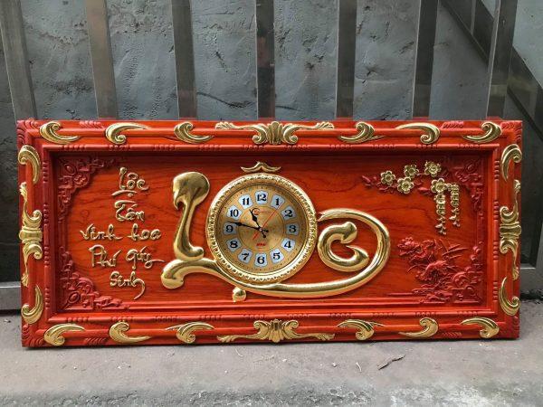 tranh đồng hồ chữ lộc ngang 108