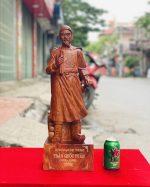tượng trần quốc tuấn gỗ hương đá cao 80cm - 1