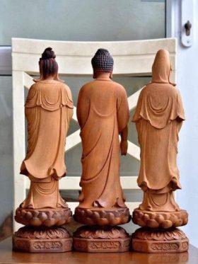 tượng phật tây phương tam thánh sơn giả cổ cao 60 mặt sau