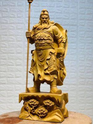 Tượng Quan Công - Đế Tùng Chạm gỗ Pơ Mu