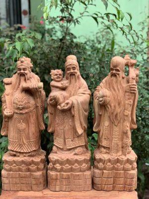 Tượng Tam Đa Phúc Lộc Thọ Đứng Thỏi Vàng
