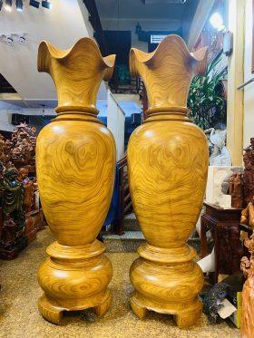 Lục bình gỗ cẩm vàng cao 2m đường kính 59cm - 1