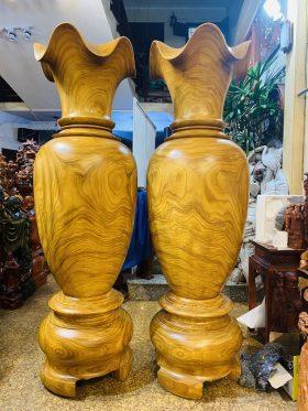 Lục bình gỗ cẩm vàng cao 2m đường kính 59cm - 2