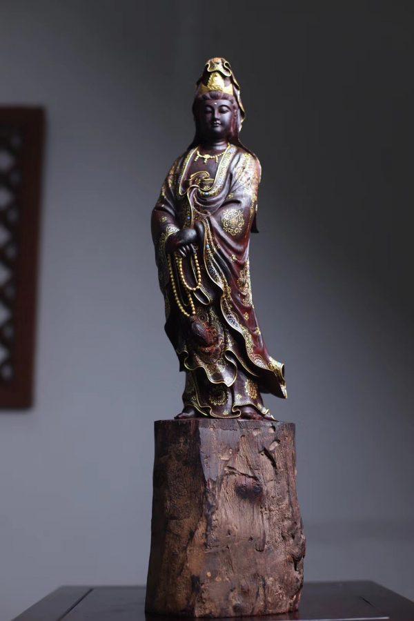 Tượng Phật Quan Âm Gỗ Tử Đàn