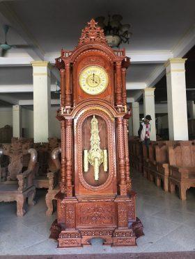 đồng hồ cây diện đồng mạ vàng cao 2m3