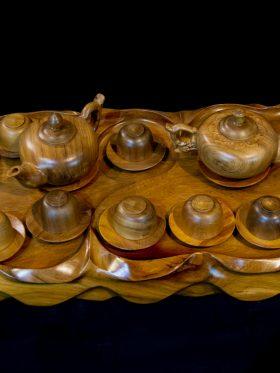 Khay trà gỗ bách xanh