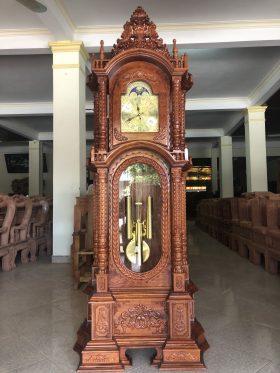 Đồng hồ cây tứ trụ 2m3 chưa mạ vàng