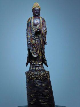 tượng phật a di đà gỗ tử đàn
