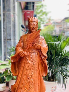 tượng khổng minh tiên sinh gỗ hương đá cao 1m - 2