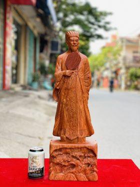 tượng không minh gỗ hương đá cao 60cm - 1