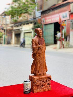 tượng không minh gỗ hương đá cao 60cm - 2