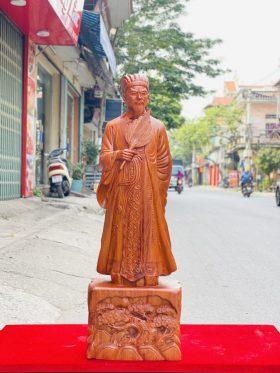 Tượng khổng minh gỗ hương đá cao 80cm - 1