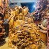 Nhất tâm bái phật gỗ ngọc am cao 80cm -1