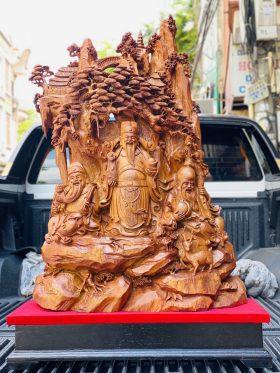 Tam Đa Gốc Tùng Gỗ Hương Ta Cao 90cm - 1