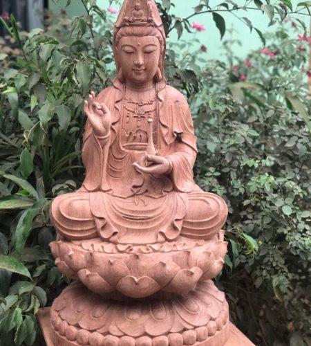tượng gỗ phật bà quan thế âm bồ tát đẹp giá rẻ